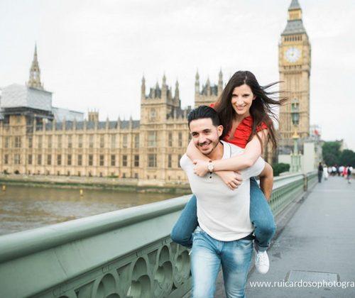 Sessão de noivado em Londres